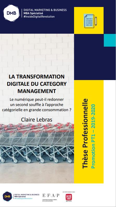couverture thèse professionnelle sur la transformation digitale du category management