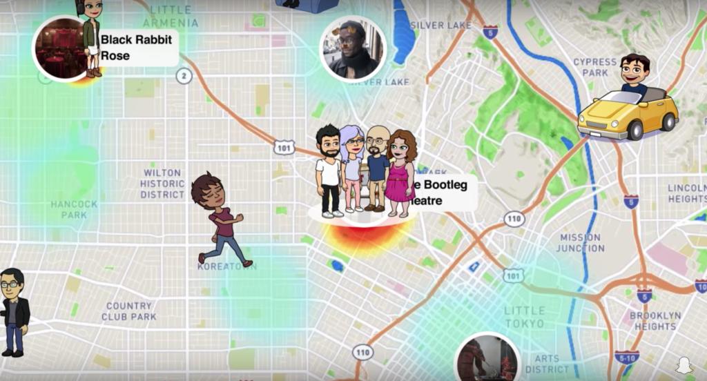 nouvelle fonctionnalité Map snapchat