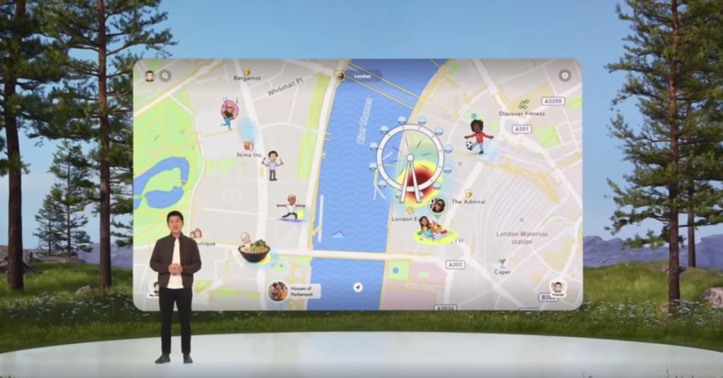 nouvelle fonctionnalité de la Map Snapchat